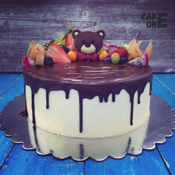 Торт с головой медведя