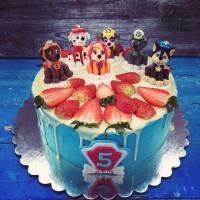 """Голубой торт с """"Щенячьим патрулем"""""""