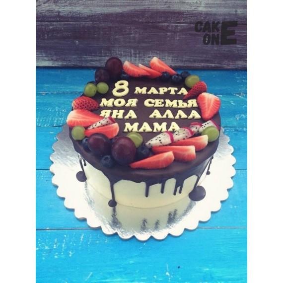 Белый торт на 8 марта