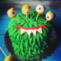 "Торт ""Зеленый монстр"""