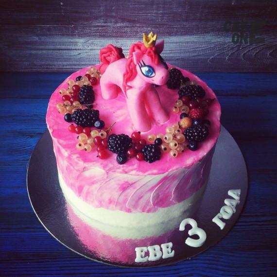 """Торт с розовым """"Литл Пони"""""""