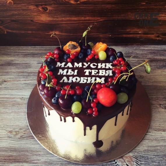 Торт для мамы с фруктами