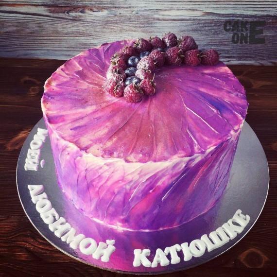 Фиолетовый торт