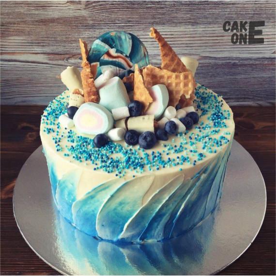 Торт с вафлями и маршмеллоу