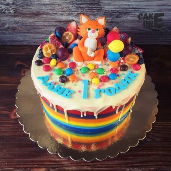Торт с рыжим котом