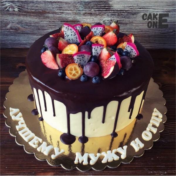 Торт для мужа с фруктами