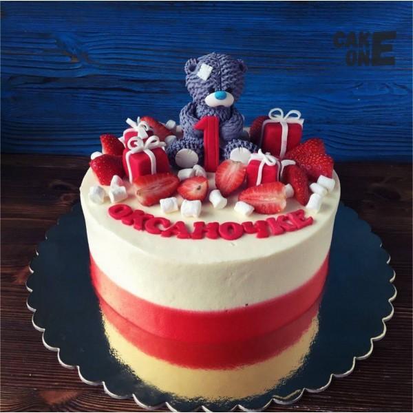 """Торт на 1 год с """"Мишкой Тедди"""""""