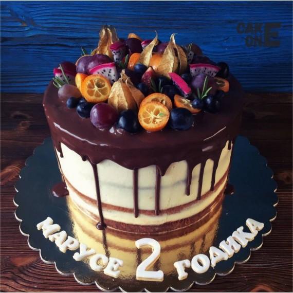 Торт на 2 года с фруктами