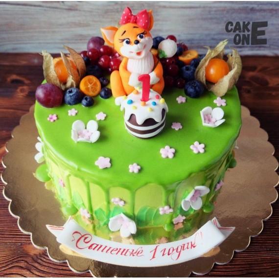Торт на 1 год с лисичкой