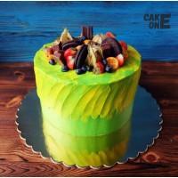 Желто-зеленый торт