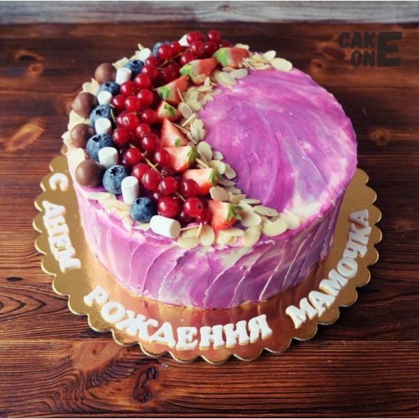 Сиреневый торт для мамы