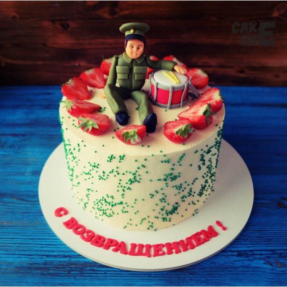 Торт с барабаном и солдатом