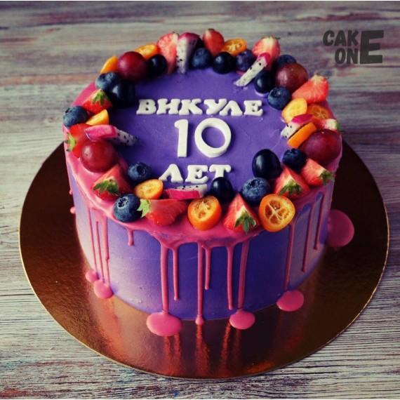 Фиолетовый торт на 10 лет