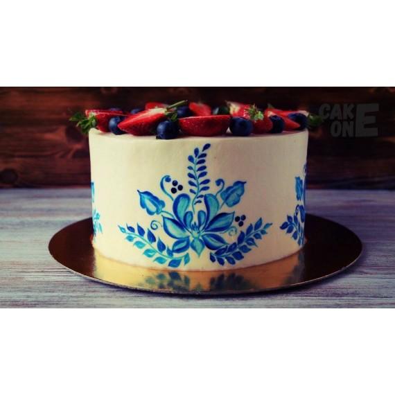 Торт с ручной росписью