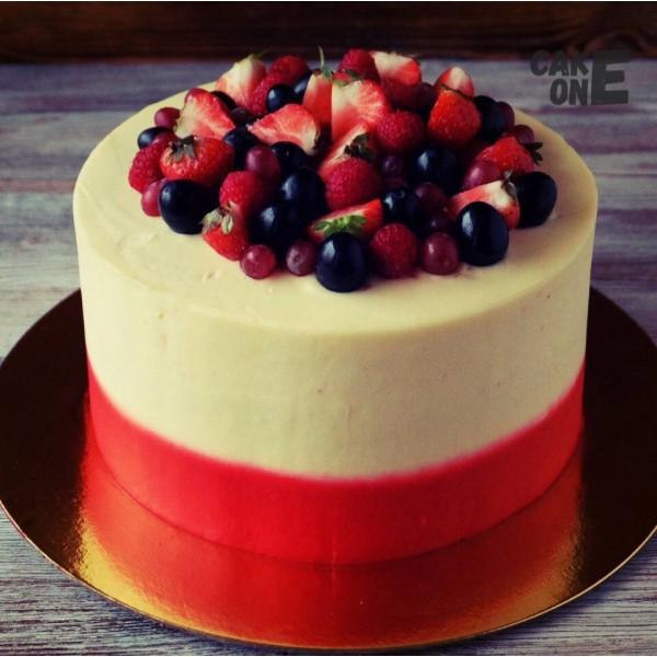 Красно-белый торт