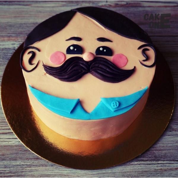 Торт в виде лица мужчины