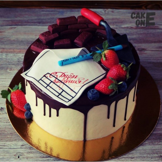 Торт для строителя с мастерком