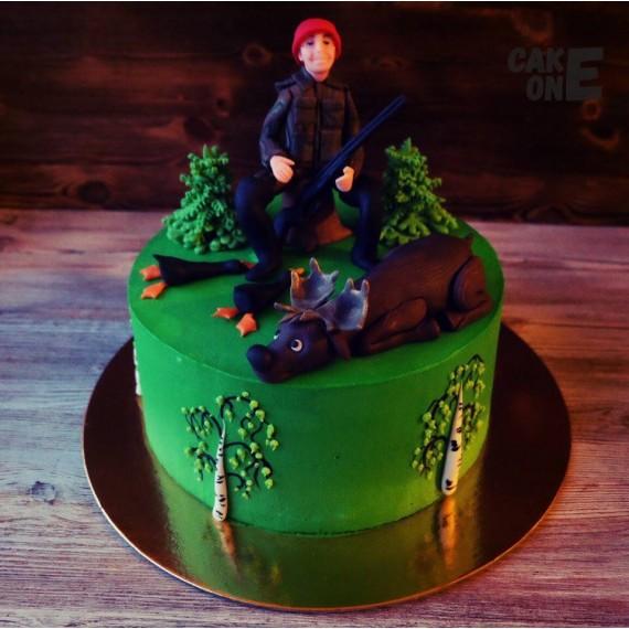 Торт с охотником и добычей