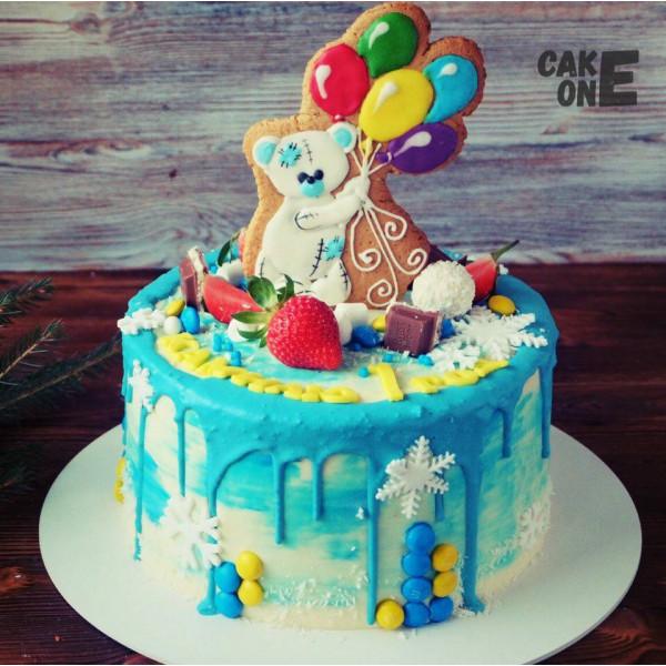 Торт с мишкой на прянике