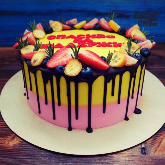 """Двухцветный торт """"Благодарность"""""""