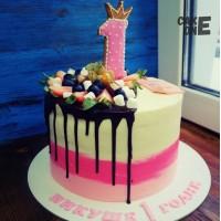 Трехцветный торт на 1 год