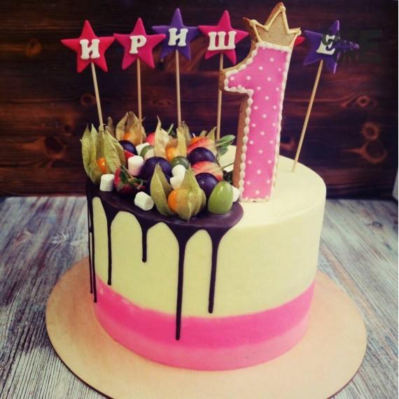 Торт со звездами на 1 год