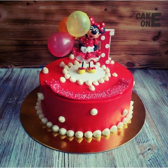 Торт с Минни на 1 год