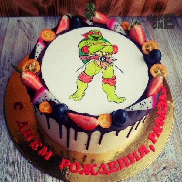 """Торт с фото """"Черепашка Ниндзя"""""""