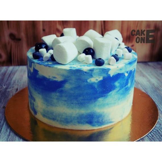 Торт с имитацией неба с маршмеллоу