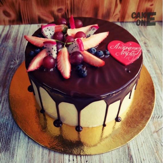 Торт с сердцем для мужа