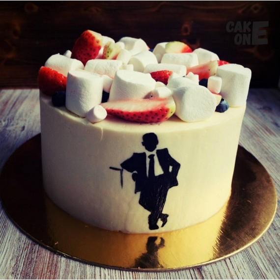 Торт с силуэтом мужчины