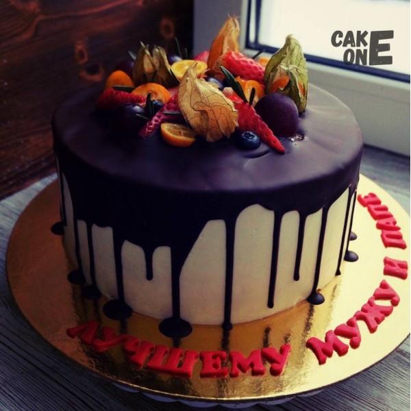 Торт для мужа с шоколадной глазурью