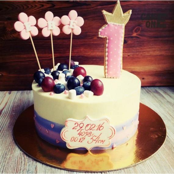 Торт-метрика с цветами
