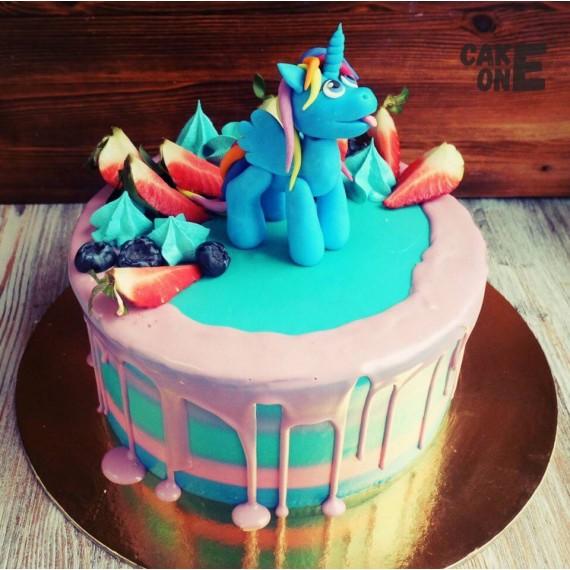 """Голубой торт с """"Литл Пони"""""""