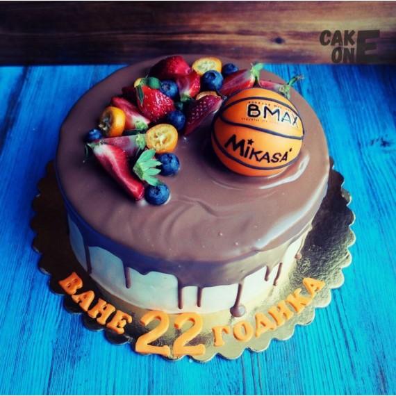 Торт с баскетбольным мячом