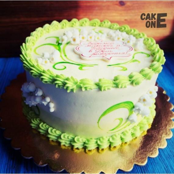 Торт с ландышами