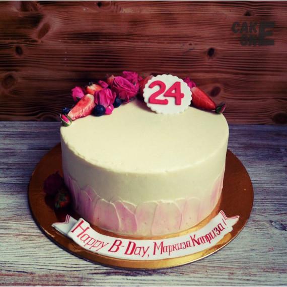 Кремовый торт на 24 года