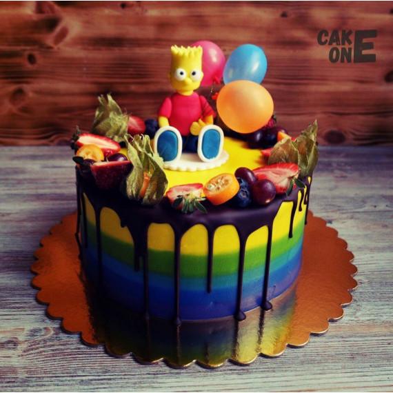 Торт-радуга с Бартом Симпсоном