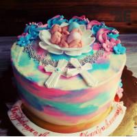Торт на крестины для близнецов