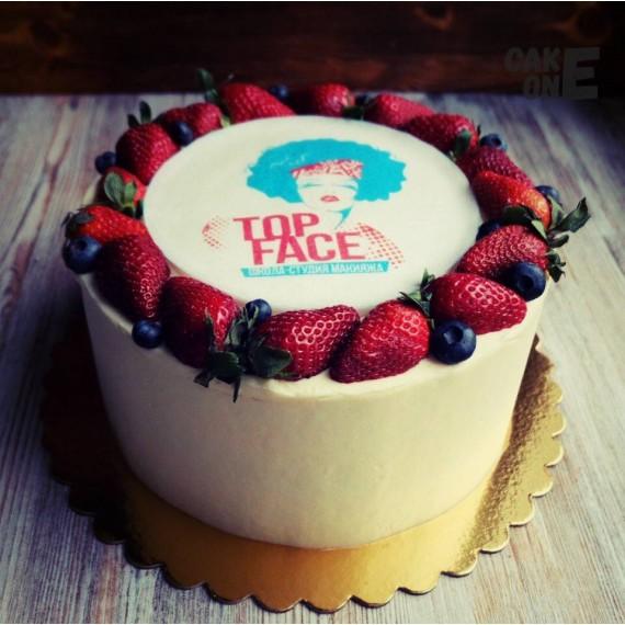 """Торт для школы-студии макияжа """"Top Face"""""""