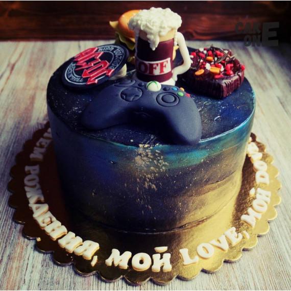 Черный торт с джостиком
