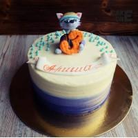 Трехцветный торт на 3 года