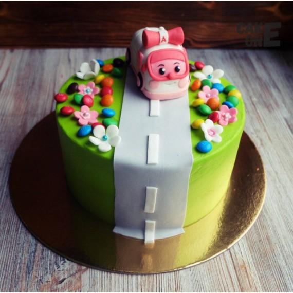 """Торт с машинкой """"Поли"""""""