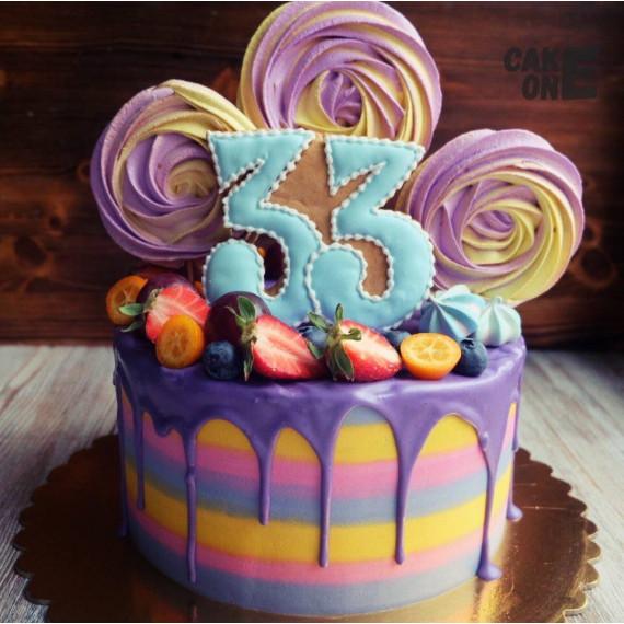 Торт на 33 года с большим зефиром