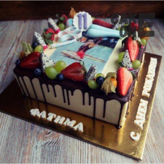 Фото-торт для гимнастки