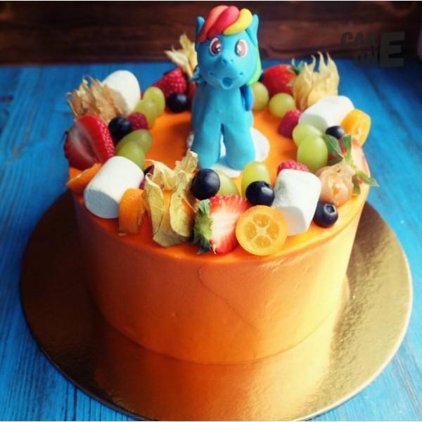 """Оранжевый торт с """"Литл Пони"""""""