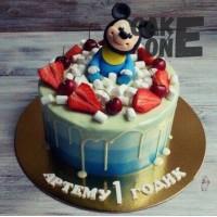 Торт с Микки Маусом на 1 год