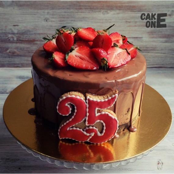 Шоколадный торт на 25 лет