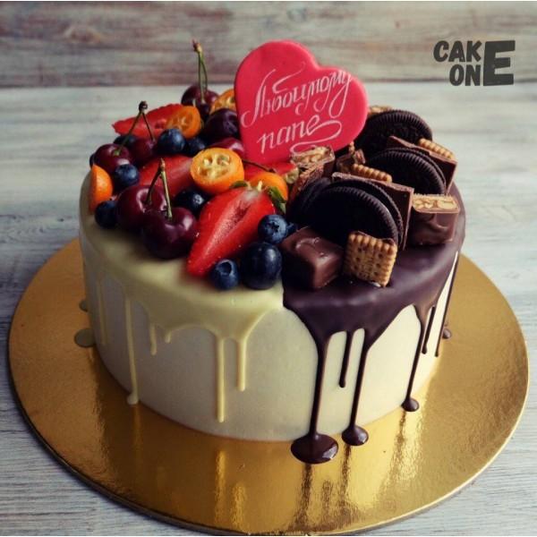 Торт для папы с сердечком