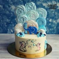 Торт со слоником и большим зефиром